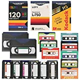 LotFancy 19 RFID Blocking Sleeves (14 Credit Card Sleeves + 5 Passport Sleeves) for Identity Theft Protection, Designed with Cassette Pattern, Smart Slim Design fits Wallet/Purse