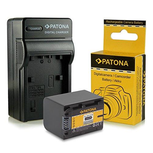 Caricabatteria + Batteria NP-FV70 per Sony Camcorder DCR-DVD110E, DVD115E, DVD150E, DVD310E, DVD410E, DVD450E, DVD510E, DVD610E, DVD650E, DVD710E, DVD