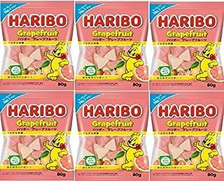 HARIBO ハリボー グレープフルーツ 80g ×6 (2020年発売)
