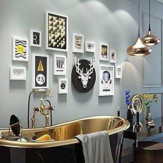 OH Conjunto de marcos de fotos de madera - Montado en la pared Home Mall - Marcos de fotos retro Wall + Marcos de fotos co...