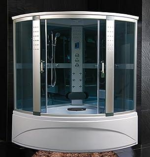Cabina Box Doccia Con Vasca Idromassaggio E Sauna 135x85.Amazon It Cabina Con Vasca Idromassaggio