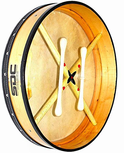 DEURA ALL NATURAL BODHRAN DRUM Irish Celtic 18 Inch Free CASE and 2 Tippers