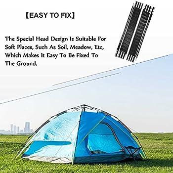 DAUERHAFT Tige de Tente en Fibre de Verre Tige d'auvent Robuste pour Tente de Camping 7-8 Personnes