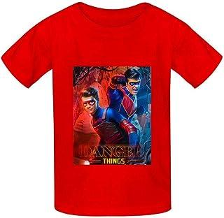 Yesbnow He-nRY Da-nG-eR Camiseta de algodón con Cuello Redondo y Blusa Estampada de Manga Corta para niños niñas