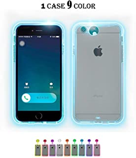 iPhone 6S Case,iPhone 6 Case,Winhoo 9 Color in 1 LED Flash Case,Can Change 9 Incoming Call LED Flash Light Alerts Clear Back Case Cover Skin for iPhone 6s/6 (iPhone 6s/6 4.7 Inch)