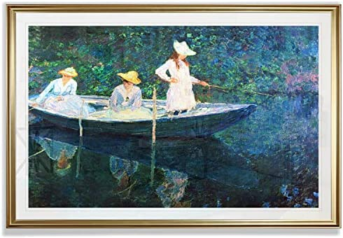 Monet Wall Art Collection Women Fishing by Claude Monet Fine Giclee Prints Wall Art in Premium product image