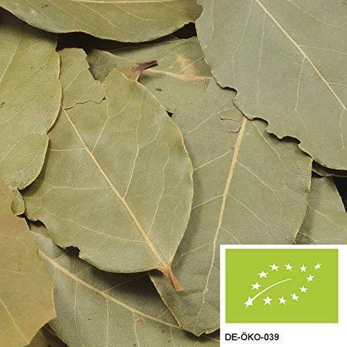250g BIO Lorbeerblätter - ganze Lorbeer-Blätter, handverlesen und intensiv aromatisch, ohne Zusätze - verpackt in biologisch abbaubarer Verpackung