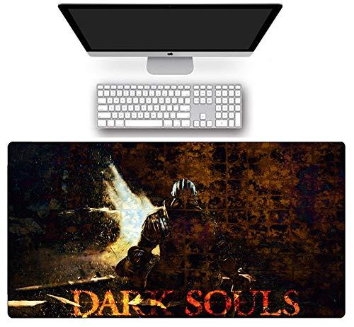 Alfombrilla de ratón grande Dark Souls Gaming Mouse Pad Speed Computer Keyboard mate anti deslizante natural Rubber Anime Gamer Desk Mate