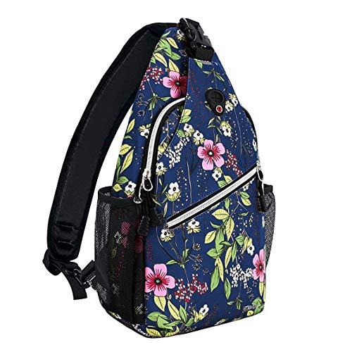 MOSISO Sling Backpack,Travel Hiking Daypack Periwinkle Crossbody Shoulder Bag, Blue