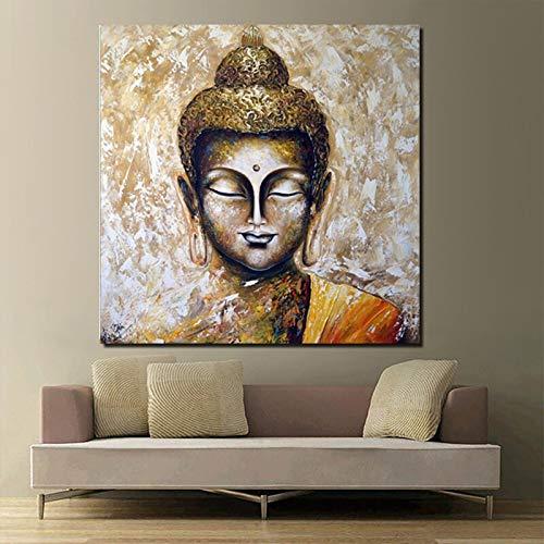 KWzEQ Buddha Poster Canvas Wall Art Poster e Stampe su Tela decorano L'Ufficio Soggiorno casa,Pittura Senza Cornice,60x60cm