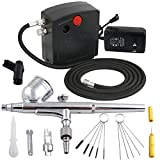 Ketofa Portable Mini Airbrush Kit with Air Compressor for Cake Decorating, Painting, Makeup