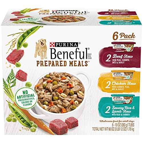 Purina Beneful Gravy Wet Dog Food Variety Pack, Prepared Meals Stew -...