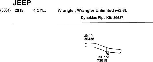Dynomax 39537 Muffler Elimination Pipe 2.5 in. Mandrel Bent Tubing Stainless Steel Muffler Elimination Pipe
