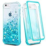 Ruky iPhone 6 6s 7 8 Case, iPhone SE 2020 Case, Glitter Full Body Rugged Liquid Cover with Built-in Screen Protector Shockproof Heavy Duty Girls Women Case for iPhone 6/6s/7/8/SE 2020 (Gradient Teal)