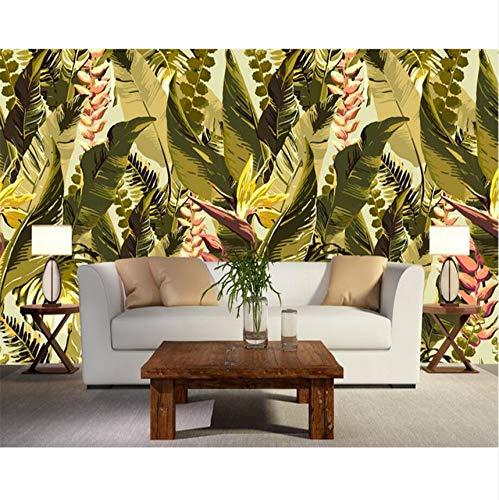 Pmhc Gepersonaliseerd fotobehang, retro-stijl, kunstwerken, tropische jungle, wandafbeelding, 3D-muurbehang 200 x 140 cm