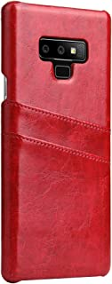 Samsung Note 9 Cover,TACOO Retro Texture Leather Soft Thin Protective Cover Card Slot Holder Red Women Men Girl Shell Case Samsung Galaxy Note9 2018