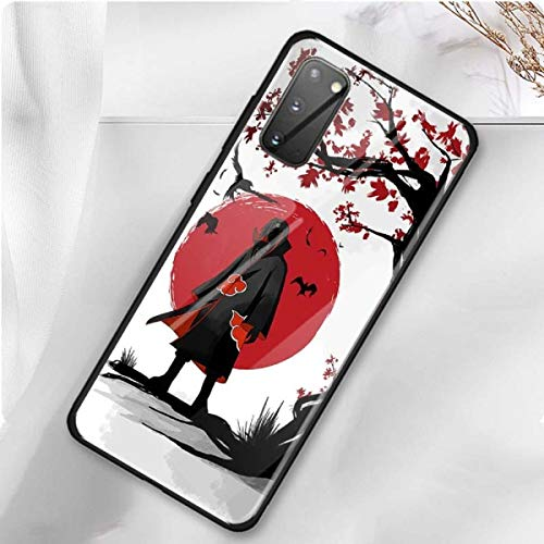 Anime Naruto Uchiha Itachi Sasuke Tempered Glass Case for Samsung Galaxy S20 S10 5G S10e S9 S8 Plus Note 20 Ultra 10 9 8 Phone Coque (2, Samsung Note 8)