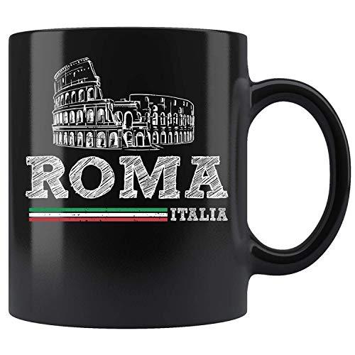 N\A Roma Italia Vintage Roma Italia Taza Taza de café Regalo Tazas de té