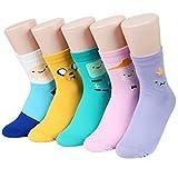 Kiss socks Socksense Animation Character Disney Series Women_s Original Socks (Adventure Time(Basic)_5pairs)
