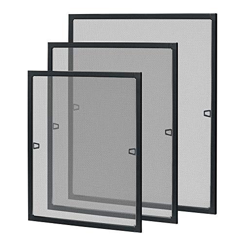 UISEBRT Zanzariera per finestra, telaio in alluminio, zanzariera, senza viti e fori