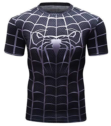 Cody Lundin Camiseta Fintess para Hombre Camisas Ajustadas Negras para Hombres Camisetas Superhero Camisas Deportivas para Hombres Camiseta Deportiva (Black, XL)