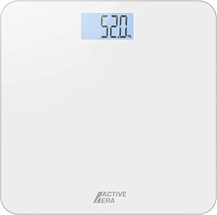 Active Era® Ultra Slim Digital Bathroom Scales with High Precision Sensors (Stone/kgs/lbs) - Gloss White