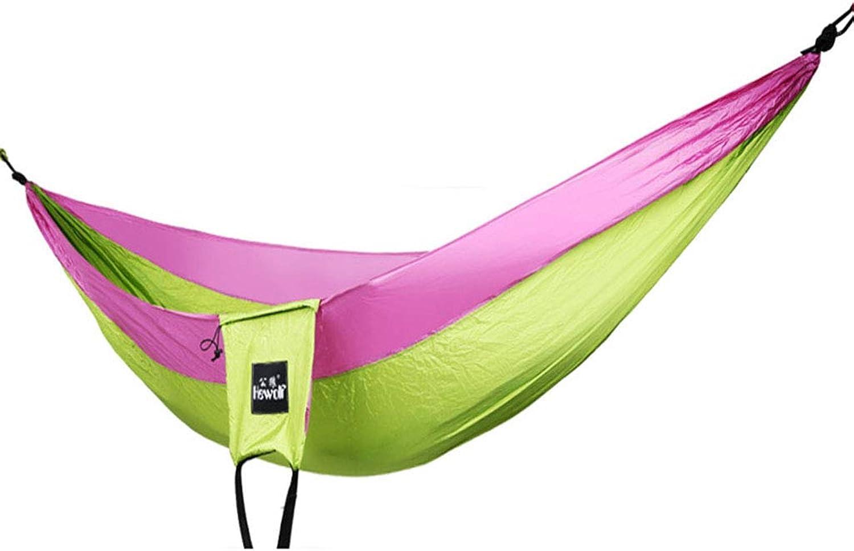 Parachute Cloth Hammock, 2 Adjustable Slings, Outdoor Camping Single Swing Chair  Load Capacity 150kg