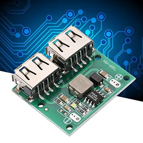 Módulo cargador USB dual, módulo cargador reductor, salida USB dual 9V / 12V / 24V a 5V 3A DC-DC Módulo cargador reductor de energía