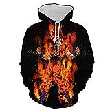 Anime Hoodie Sweaters Cartoon,Super Saiyan hoodie, Dragonball Z Goku men's/women's sweatshirt-Dragon Ball Black Background_S