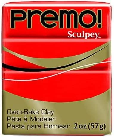 Popular product Sculpey Premo Premium Polymer Baltimore Mall Clay Cadmium Hue Pieces 4 Red