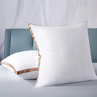 IMISSYOU Lot de 2 oreillers en microfibre super doux - Coussins d'hôtel de qualité supérieure - 80 x 80 cm - Design double...