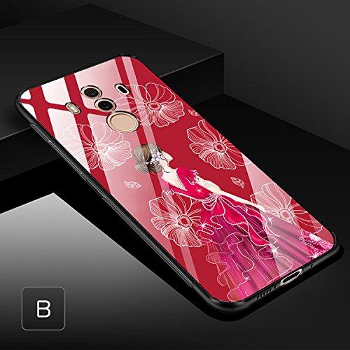Huawei Mate10 Pro ケース TPU バンパー 背面強化ガラス 背面パネル付き かっこいい ファーウェイ メイト10プロ サイドバンパー おすすめ おしゃれ アンドロイド ファーウェイ ハーウェイ ホアウェイ スマホケース上質
