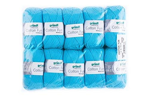 Gründl 762–09Cotton Fun cotone, Cotone, Colore: Azzurro, 27,00x 11,00x 07,00cm