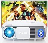 """Vidéoprojecteur 7200 Bluetooth, Natif 1920x1080P Full HD, WiMiUS S4 LCD Rétroprojecteur, pour Home Cinéma 300"""", LED Projecteur, Supporté 4K, pour Fire TV Stick, PS4, PC, iPhone, Tablette, DVD,"""