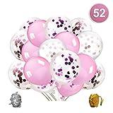 Qipop Oro Rosa coriandoli Palloncini Party Balloon per Matrimonio, Compleanno, Baby Shower...