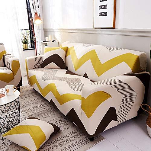 WXQY Funda de sofá Floral Funda de sofá elástica Todo Incluido Funda de sofá Antideslizante combinación de Funda de sofá de Esquina en Forma de L A33 2 plazas