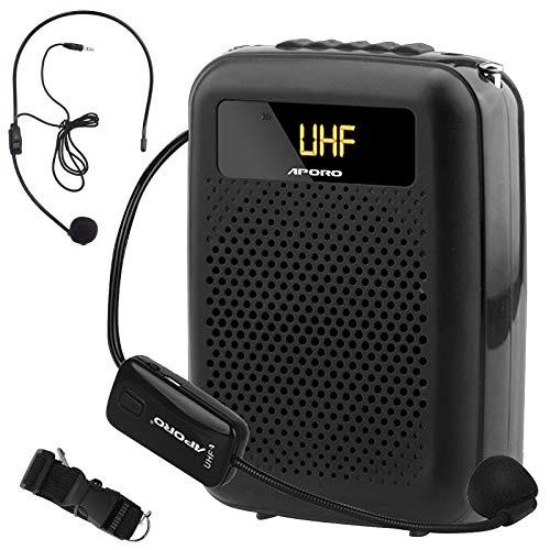 Minterest Amplificador de Voz (12W), 2200mAh Multifuncional Portátil Mini Altavoz de Voz Bluetooth Reducción de Ruido con Micrófono Inalámbrico para Conferencias de Profesores