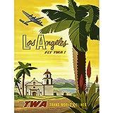 Bumblebeaver TRAVEL TWA Airline LOS Angeles California Palm
