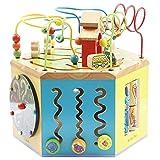 Actividad Juguetes del Cubo Puzzle Interactivo rebordeó Madera Juguetes for bebés educación temprana Hexaedro Juguetes, Regalos for los niños y niñas 1-12 para los niños pequeños