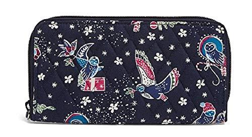 Vera Bradley RFID Georgia Wallet in Holiday Owls, Signature Cotton