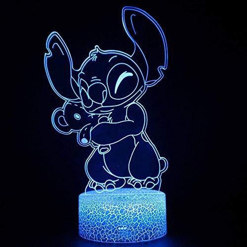 Luces nocturnas 3D para niños Personaje de anime 7 colores cambian la luz nocturna para niños con Smart Touch Regalos perfectos para niños y decoración de habitaciones.