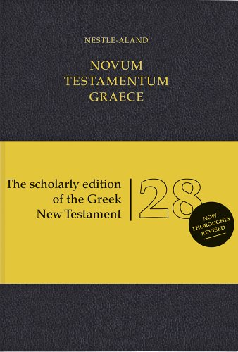 Novum Testamentum Graece (NA28): Nestle-Aland 28th Edition (Ancient Greek Edition)