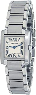 Tank Francaise Analog-Quartz Female Watch W51008Q3 (Certified Pre-Owned)