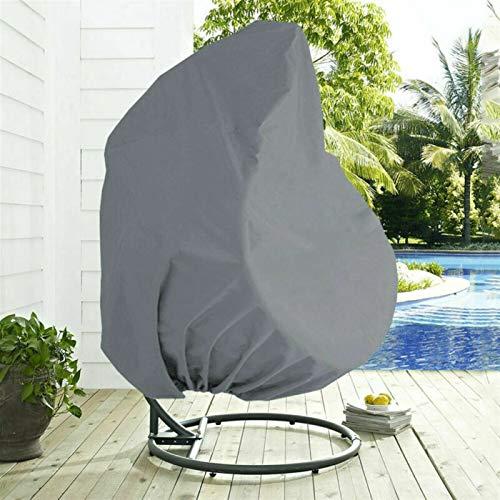 ErNahdasA Oscilación Colgante Cubierta de la Silla al Aire Libre Jardín Patio Prueba de Polvo Protector Solar UV Protection Muebles de jardín Inicio para Jardines al Aire Libre (Color : Grey)
