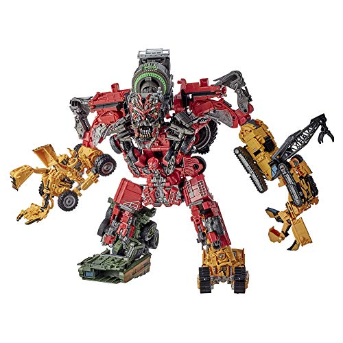 Transformers Toys Studio Series 69 Revenge of The Fallen Devastator Constructicon Action Figures 8-Pack - Kids Ages 8 and Up, 14-inch