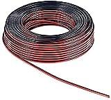Powergreen CAB-02050-SP Rollo Cable de Altavoz Tipo Rojo y Negro de 2X0.5 100M