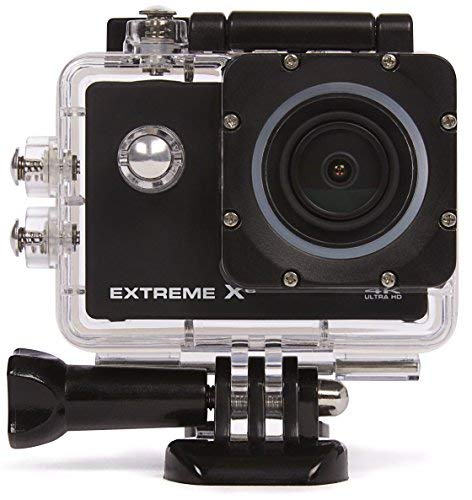 Nikkei ExtremeX6 ULTRA HD Aktion/Sports Kamera 16MP mit WIFI ,4K 30FPS - Full HD 60FPS - 720P 120FPS - Wasserdicht, Bildschirm, Zubehör, 900 mAh - Schwarz