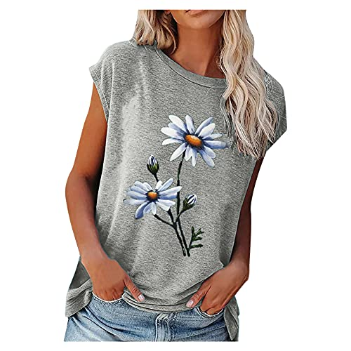 Sommer T-Shirt Frauen Rundhals Kurzarm Casual Blumendruck Vintage Tops Pullover Weibliche Elegante Streetwear T-Shirts