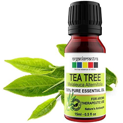 Organix Mantra Tea Tree Essential Oil For Skin, Hair, Face, Acne Care, 15Ml Pure, Natural And Undiluted Therapeutic Grade Essential Oil 1
