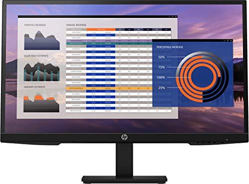 HP P27h G4 (27 Zoll / Full HD 75Hz) Business Monitor (Micro-Edge, entspiegelt, 5ms Reaktionszeit, neigbar, schwenkbar, VGA, DisplayPort, HDMI, Lautsprecher) schwarz